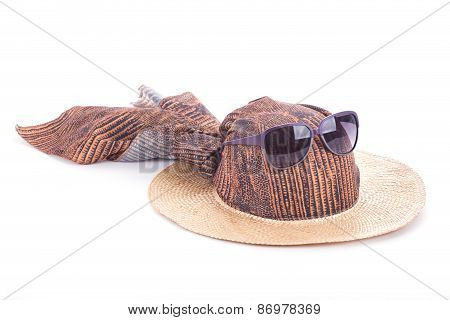 Beach Hat And Sunglasses