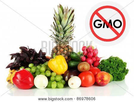 Juicy fruits and vegetables without gmo