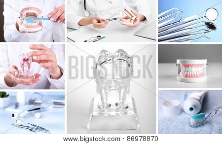 Collage of dental healthcare