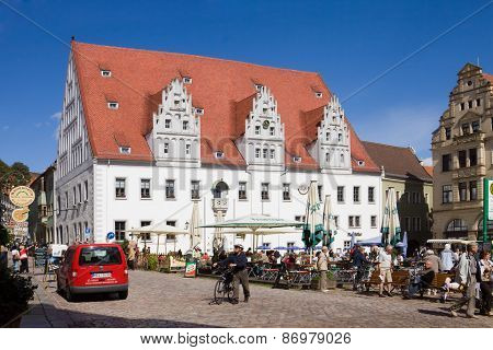 The City Hall On The Market Square In Meissen, Germany