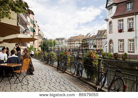 Cityscape In The Petite-France. Strasbourg, France
