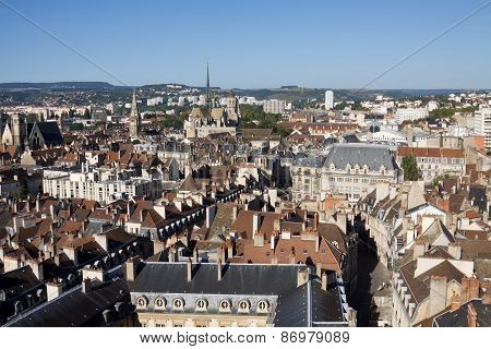 Aerial View Of Dijon City In Burgundy, France