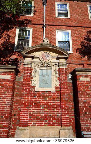 Harvard University in Cambridge Massachusetts USA