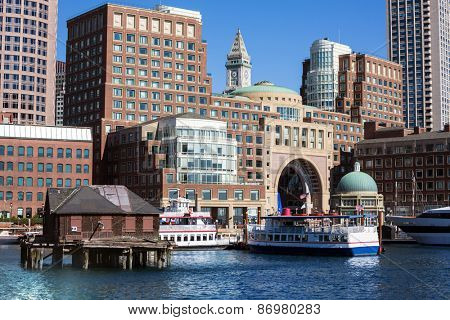 Boston Rowes Wharf in Massachusetts USA