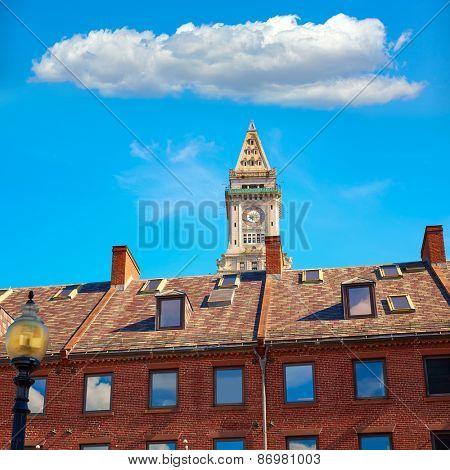 Boston Clock tower Custom House in Massachusetts USA