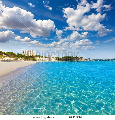 Majorca Platja Playa de Palmira beach Calvia in Mallorca Balearic islands of spain