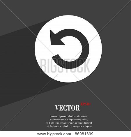 Icon Symbol Flat Modern Web Design With Long Shadow And Space For Your Text. Vector