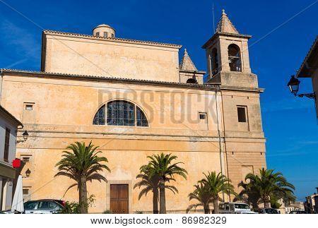 Majorca Alqueria Blanca Felanitx church in Mallorca Balearic island