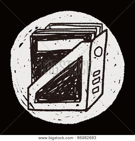 Bookshelf Doodle