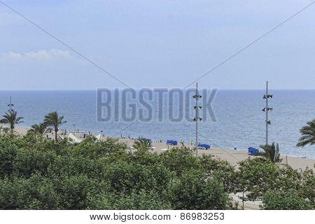 The Beach Of Calella