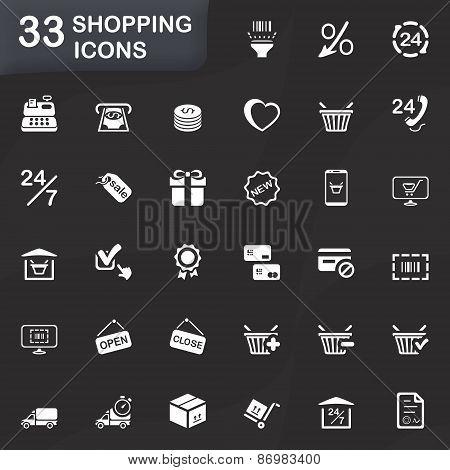 33 Shopping Icons.eps