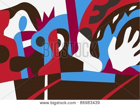 stress , problems - abstract vector illustration