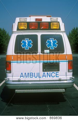 Rear View Of Ambulance
