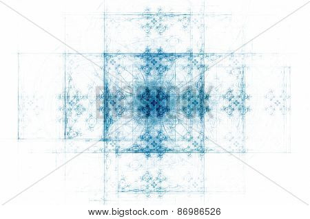 Grunge Ornate Background, Fractal Art