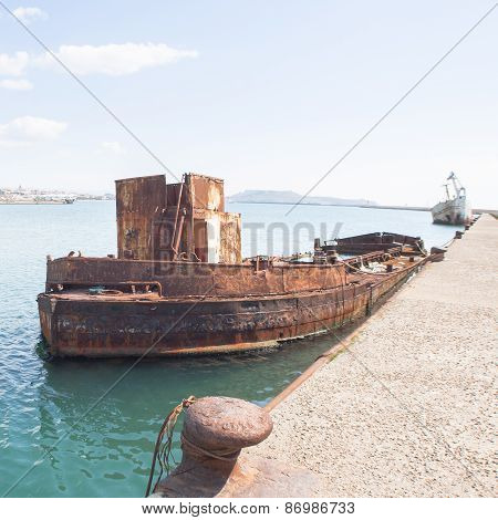 Rusty Wreck Moored