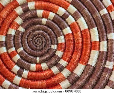 Infinity Circular Pattern on Handmade Textile