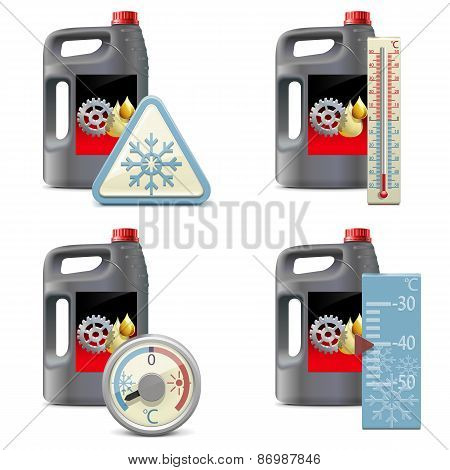 Vector Winter Oil Icons