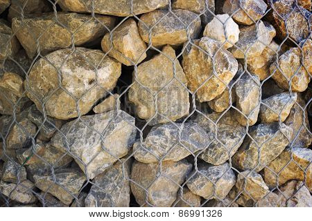 Grid With Gray Granite Stones, Background