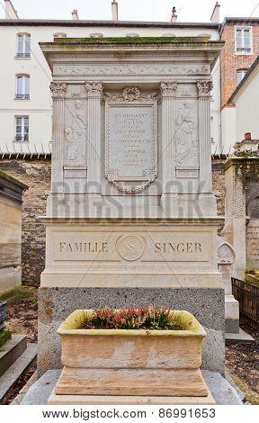 Grave Of David Singer In Paris