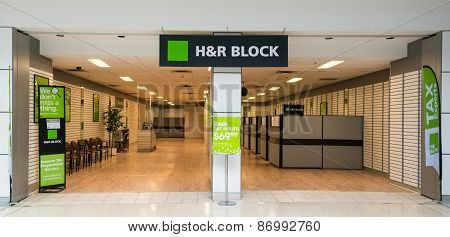 H&r Block Office In A Mall
