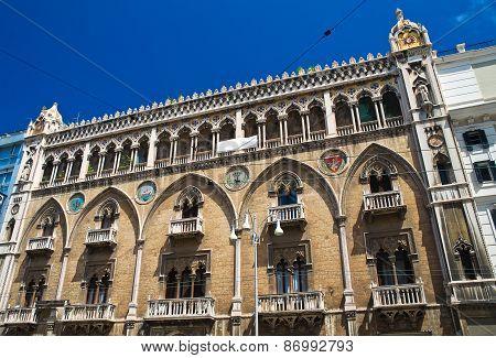 Fizzarotti palace. Bari. Puglia. Italy.