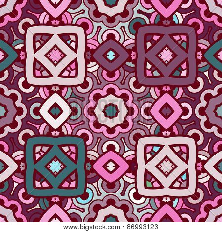 Vector seamless abstract kaleidoscope pattern