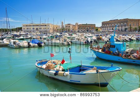 Panoramic view of Trani. Puglia. Southern Italy.