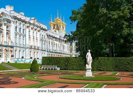 Tsarskoye Selo (Pushkin), Saint-Petersburg, Russia. The Catherine Park