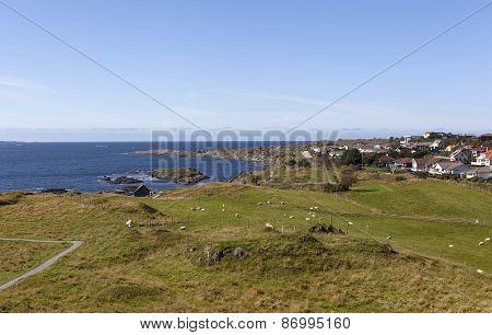 The shore of the North Sea. Haugesund. Norway.