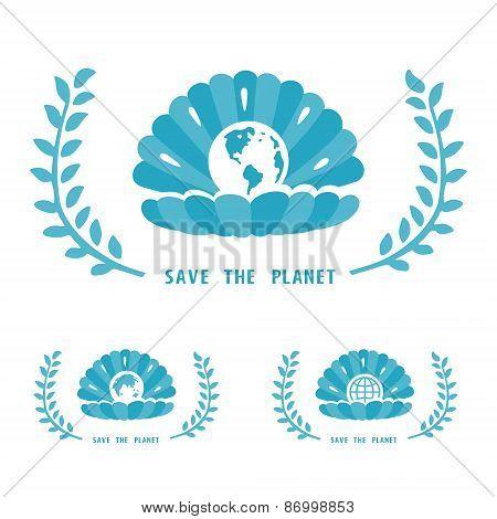 Save The Planet Symbol