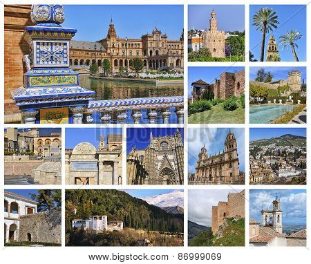 Set Of Andalusian Landmarks
