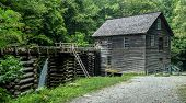 picture of smoky mountain  - Historical Grist Mill located on the Roaring Fork Motor Nature Trail in the Great Smoky Mountains National Park - JPG