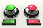 stock photo of yes  - 3d rendering of an yes and no switch - JPG