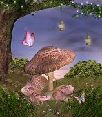 stock photo of faerie  - Enchanted nature series  - JPG
