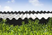 picture of causes cancer  - Dangerous asbestos roof  - JPG