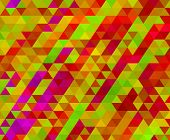 picture of low-light  - low poly triangle light colorful mosaic background - JPG