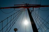 Постер, плакат: Sails And Mast Of Ship