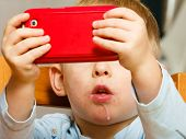 stock photo of toy phone  - Technology generation - JPG