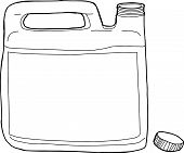 image of generic  - Outlined open generic plastic laundry detergent container - JPG