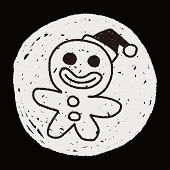 foto of gingerbread man  - The Gingerbread Man Doodle Drawing - JPG