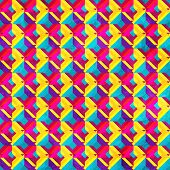 stock photo of psychedelic  - psychedelic mosaic seamless pattern  - JPG