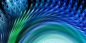 picture of vibrator  - Blue spiral wave or vibration - JPG