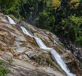 image of waterfalls  - Karome waterfall Evergreen forest waterfall in Nakhon Si Thammarat Thailand - JPG