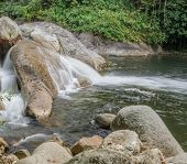 picture of waterfalls  - Karome waterfall Evergreen forest waterfall in Nakhon Si Thammarat Thailand - JPG