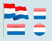 pic of holland flag  - a set of four flags of Holland State - JPG