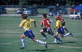 Junior Soccer / Football - Chasing The Ball