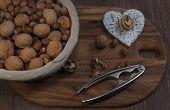 foto of nutcracker  - Hazelnuts - JPG