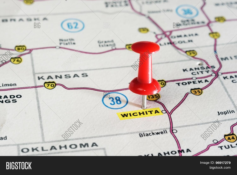 Wichita Kansan Usa Map Stock Photo Stock Images Bigstock Wichita Usa Map