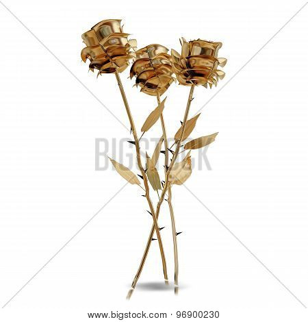 Illustration Of A Gilded Rose