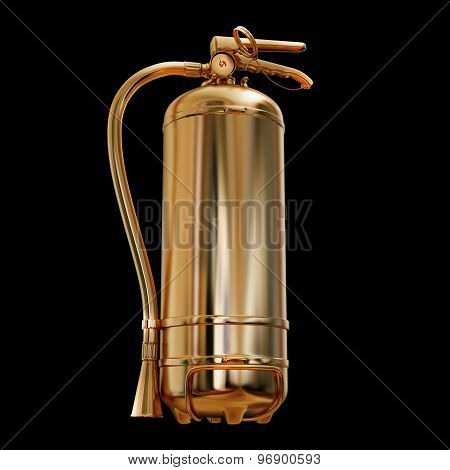 Illustration Of A Gold Fire Extinguisher Isolated